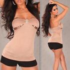 Sexy reggiseno FASCIA- con paillettes e strass spilla camicia