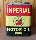 VINTAGE+ANTIQUE+ADVERTISING+IMPERIAL+MOTOR+OIL+TWO+2+GALLON+CAN+