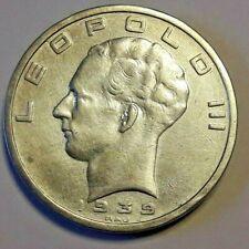 Munten, België, 50 Francs, 50 Frank, 1939, ZF, Zilver, KM:122.1 Belgique francs