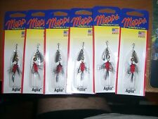 Mepps Aglia Spinner Size 0 S-B0 1/12 oz. B0W  Lot of 6