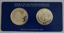 PHILIPPINES 25 & 50 Piso 1979 Silver Proof Set UN & UNICEF