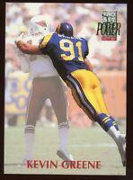 1992 PRO SET POWER #91 - KEVIN GREENE - LOS ANGELES RAMS - FREE SHIPPING!