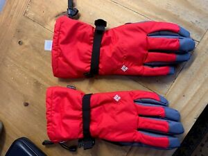 Columbia Mens Ski Gloves-large...red......new, never being worn, but no labels