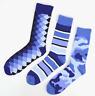 Crew Socks Blue Patterned Dress Socks