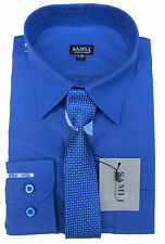 Samli Boys Shirt and Tie Set Long Sleeved Formal Smart Casual Shirt 1Y to 15Y