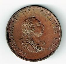 GREAT BRITAIN 1799 1/2 HALF PENNY KING GEORGE III CHOICE CONDITION SEE PICTURES