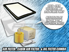 AIR FILTER CABIN FILTER OIL FILTER COMBO FOR 2013 2014 CAMRY HYBRID 2.5L ONLY