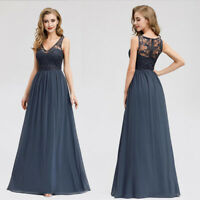 Ever-Pretty US Lace Evening Dress V-Neck Chiffon Cocktail Party Gown Long 07999