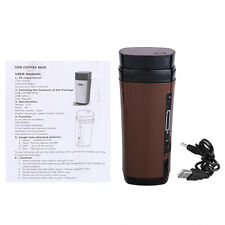 Portable Thermos Cup Automatic USB Heating Stirring Insulated Coffee Travel Mugs