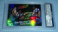 Carlos Condit Jake Ellenberger Signed 2010 UFC Topps Main Event Card PSA/DNA COA
