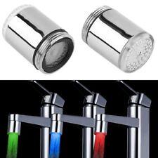 Auto Sensor LED Wasserhahn Licht RGB 7 Farben Dusche Küche Kopf Wasserhahn GE