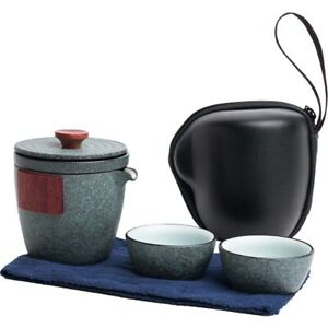 Ceramic Teapots 2 Cups Sets Portable Travel Drinkware Pottery Japanese Teaware