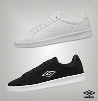 Mens Umbro Lace Up Perforated Classic Court Styled Trainers Sizes from 6 to 12