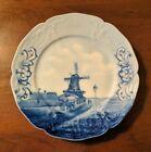 Antique Rosenthal Sanssouci Delft Flow Blue Plate Porcelain