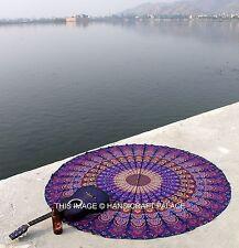 Mandala Etnico Rotondo Spiaggia Arazzo HippieTiro Tappetino Yoga Indiano Roundie