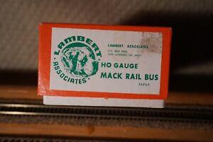 Lambert Associates HO Brass Mack Rail Bus