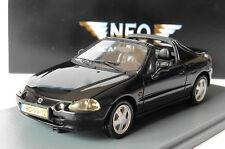 HONDA CRX DEL SOL METAL BLACK 1992 NEO 44512 1/43 METALLIC SCHWARZ NOIR NOIRE