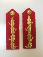 Gorget Patch-Army Gold On Red Major General  No 1 Dress