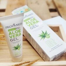 Provamed aloe vera gel organic 100% irritated sun burn sensitive skin scar less