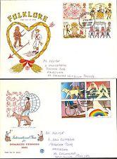 Juego Completo Ilustrado 1981 conmemorativa primer día cubre Bognor Regis PM.