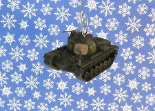 Custom Christmas Ornament Corgi Vietnam M48-A3 Patton US Army Tank