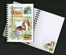 Basset Hound Dog Notebook/Notepad + small image on every page by Starprint