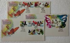 2008 Malaysia Butterflies Stamps & MS fdc, Set of 3 Covers (Kuala Lumpur Cachet)
