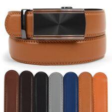 Men's Designer Leather Ratchet Belt Royal Bronze Radiance Automatic Buckle