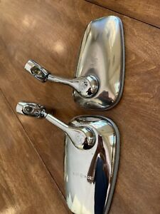2 Alfa Romeo spider /Duetto In better then  driver quality chrome Side mirrors