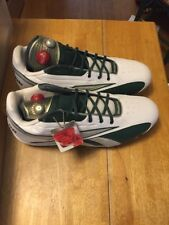 Reebok FGT Mens Shoes Cleat White and Green Size 17 NWT with PUMP