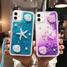 3D Starfish Shell Quicksand TPU Rope Phone Case For iPhone 11 Max XR X 7 8 SE 6