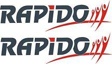 RAPIDO vinyl stickers badges x2