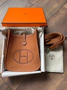 Hermes Mini Evelyne Bag Gold Tan Colour Size 16 Brand New