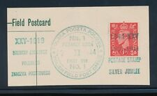 Poland Ww2 1944 Postage Stamp Jubilee Trial Cancel on Piece First Day.Fpo