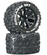 "Duratrax Sidearm MT 2.8"" 2WD Mounted Tires / Wheels Rear C2 (2) Rustler Stampede"