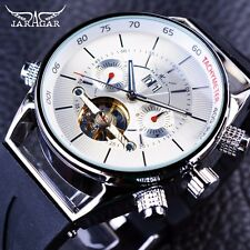 Automatic Fashion Sport Watch Shark Lines Design Rubber Band Tourbillion Watches