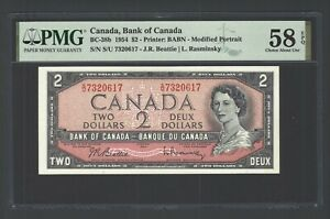 Canada 2 Dollars 1954 BC-38b  About Uncirculated