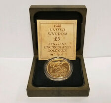 Brilliant Uncirculated Gold 1988 Five Pound Sovereign