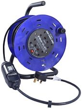 25m 240V Four Socket Cable Reel Extension Lead with RCD 4 Gang 13 AMP Garden