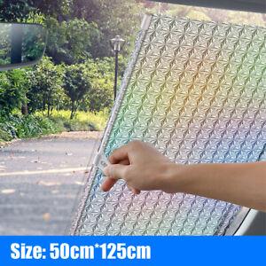 Auto Retractable Car Front Windshield Sun Shade Cover Window Visor Rear 125*50cm