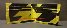 Handmade Duct Tape Wallet Striped Hazard Warning Yellow/Black
