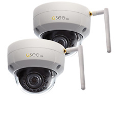 New Q-See QCW3MP1D-2 3MP Wi-Fi Dome Security Cameras w/ 100ft Night Vision 2Pack
