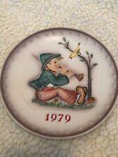 """Vintage Goebel Hummel Plate 1979 """"Singing Lesson�"""