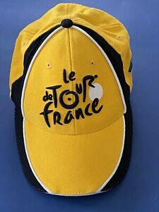 Le Tour De France Yellow Jersey Mesh Strapback Hat Cycling Biking A2652