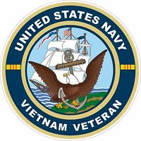 UNITED STATES NAVY Vietnam Veteran  Decal Window Bumper Sticker
