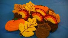 HOME MADE ICED  THANKSGIVING FALL MIXED  SUGAR COOKIES by NEEDFULL THINGS