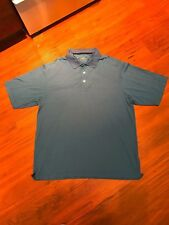 Page & Tuttle Cool Elite Polyester Blue Golf Shirt L