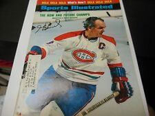 1973 SPORTS ILLUSTRATED MAGAZINE MONTREAL CANADIENS SIGNED HENRI RICHARD RARE