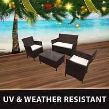 New Premium 4PC Wicker Rattan Outdoor Cofe Lounge Furniture Garden Sofa Setting