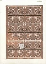 Tin Ceiling - stamped copper - 1/12 scale dollhouse miniature  36002